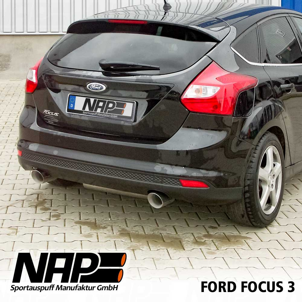 nap sportauspuff ford focus 3 ab bj 2011 edelstahl duplex. Black Bedroom Furniture Sets. Home Design Ideas