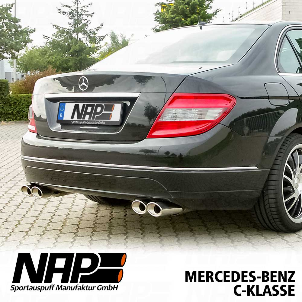 nap sportauspuff mercedes c klasse w204 s204 c204 edelstahl duplex ebay. Black Bedroom Furniture Sets. Home Design Ideas
